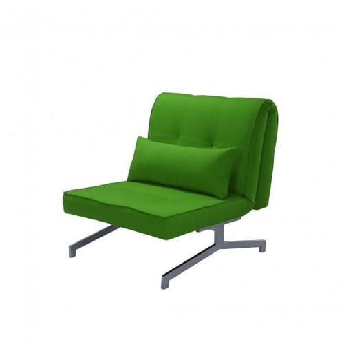 green convertible bed and chair