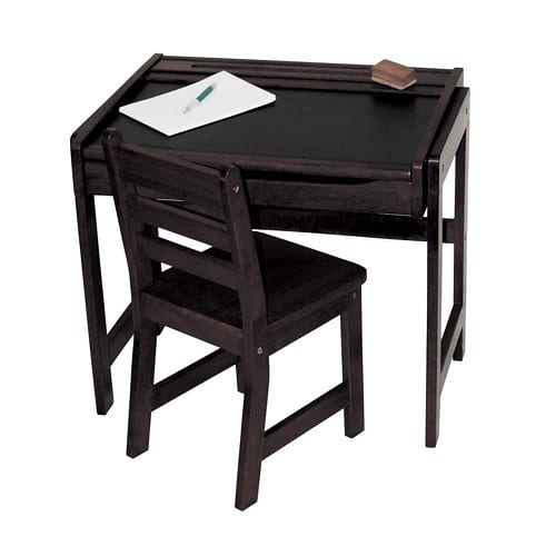 kid's desk with chalkboard top