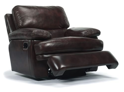 chocolate leather recliner