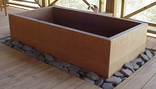 rectangular ofuro tub