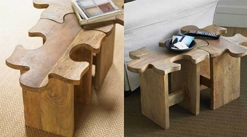 jigsaw puzzle end table