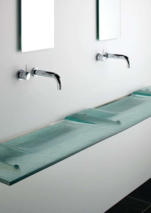 ultramodern glass sink