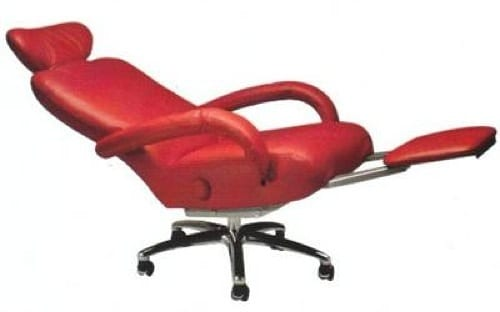 red executive recliner