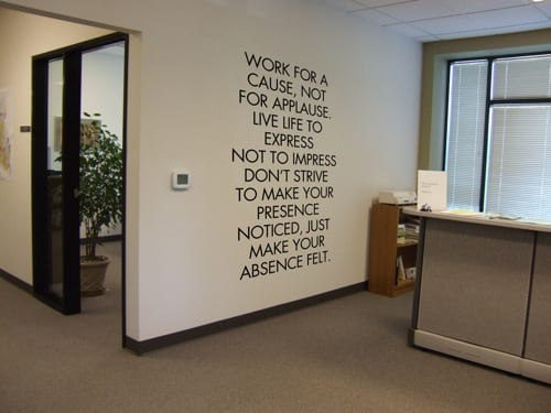 motto wall decal