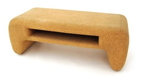 sustainable cork bench
