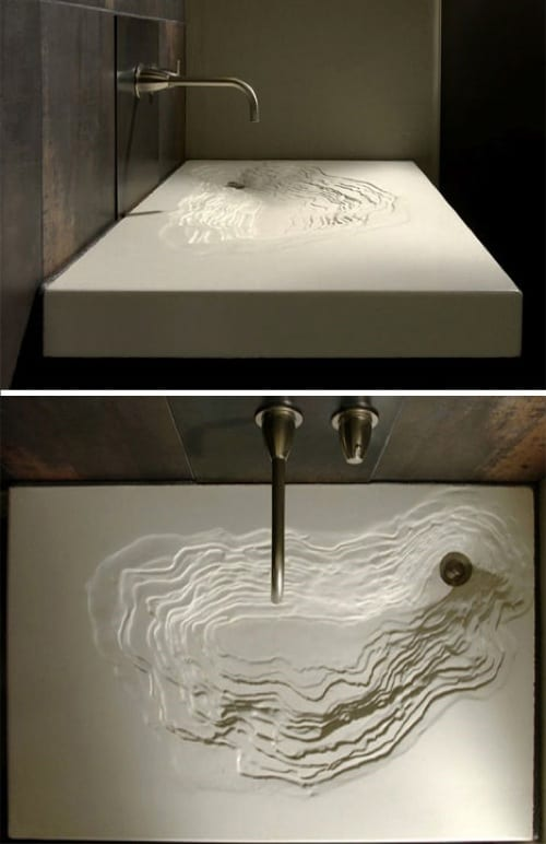 white geological sink