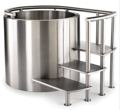 metal ofuro tub