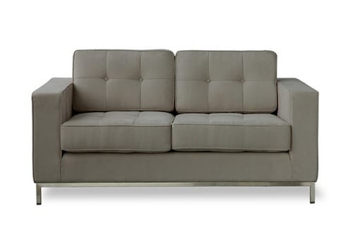 grey city love seat