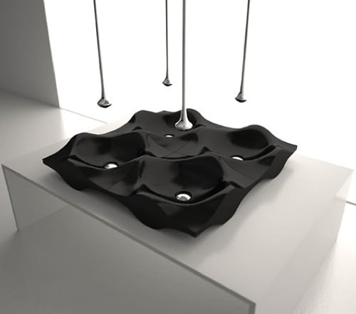 ultramodern black sink