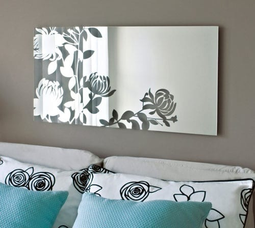 floral wall mirror