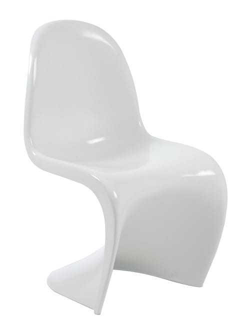 curved white chair