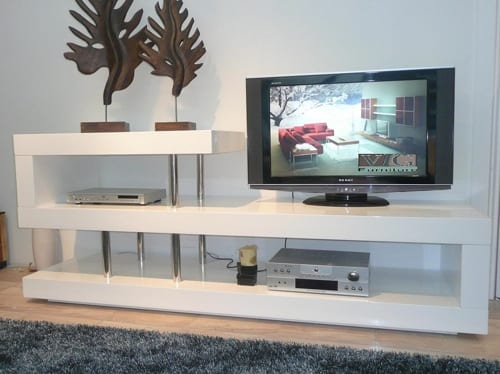 white television stand