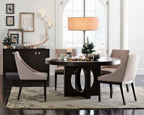 dark modern dining room table