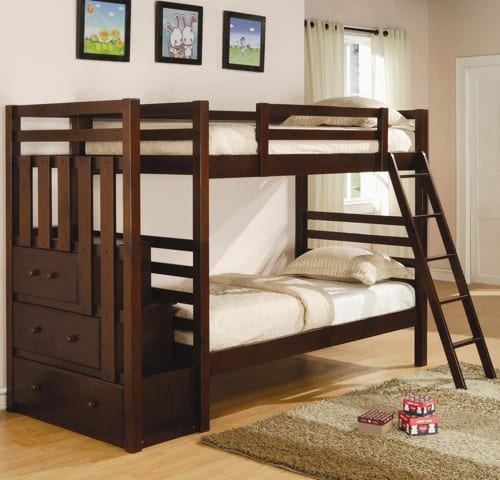 cherry wood bunk bed