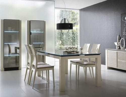modern white dining set