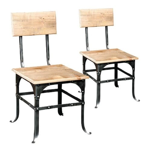 reclaimed wood side chairs