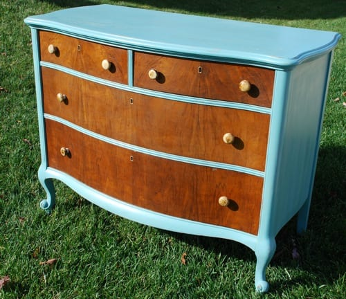 blue chest of drawers