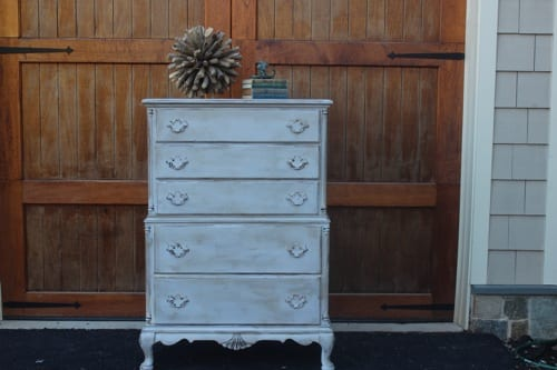 antique blue chest of drawers