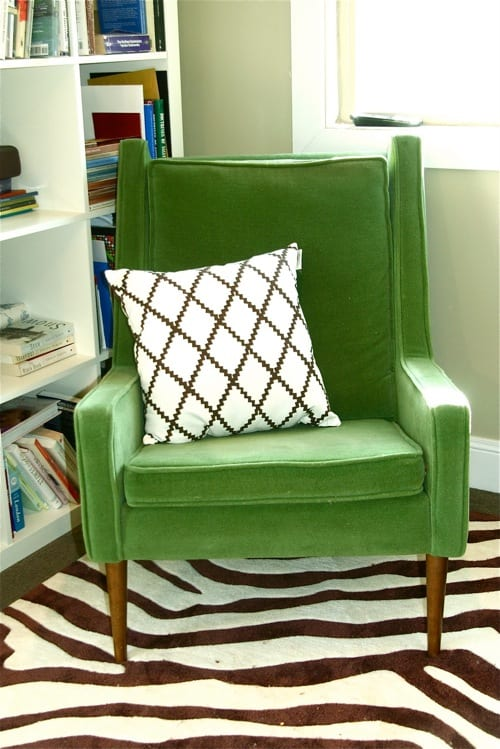 green accent chairs
