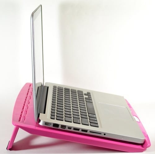pink laptop stand