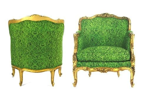 traditional accent chairs in green