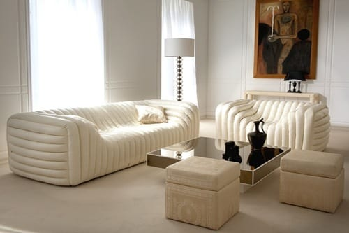 White Couches by Versace Home