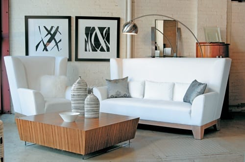 White High-Backed Couches by Metropolitan Home Collection