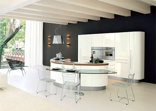 crisp modern kitchen