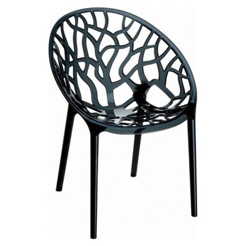 black polycarbonate chair