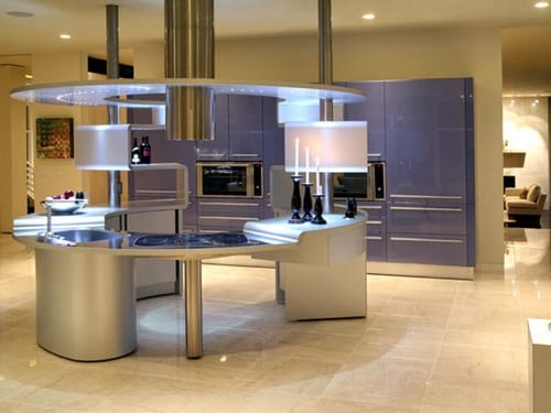 futuristic kitchen island