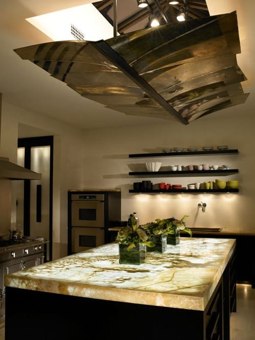 illuminated kitchen island