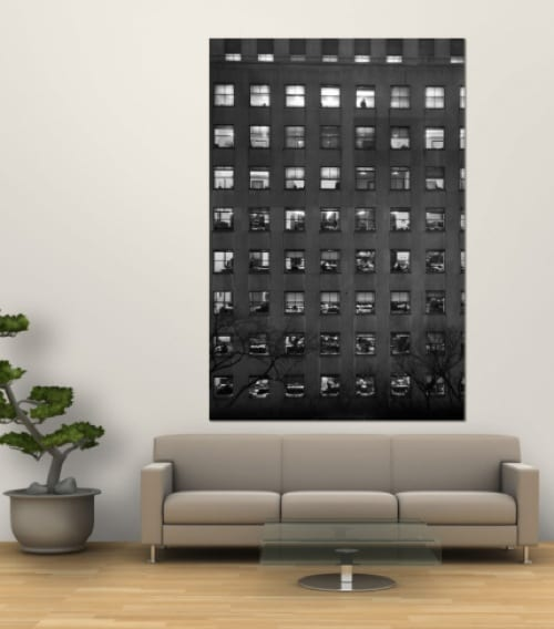 modern black and white wall art