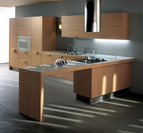 modern wood cabinetry
