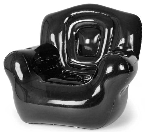 black inflatable chair