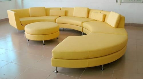 10 Colored Leather Couches
