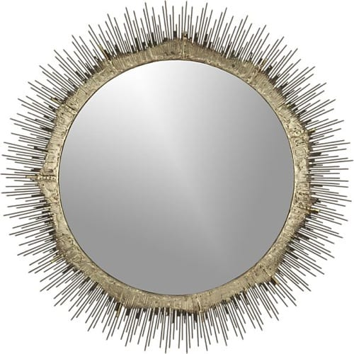 abstract round mirror