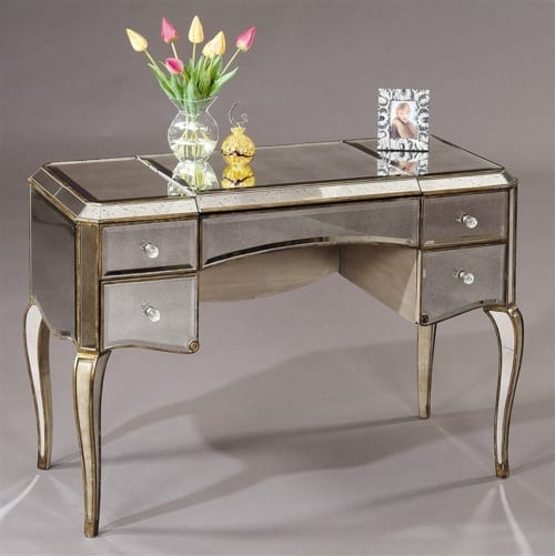 antique mirrored makeup table