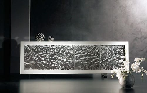 metallic sideboard