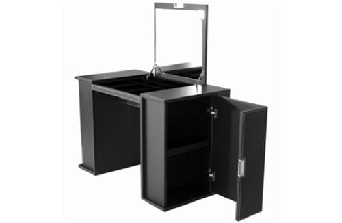 modern black vanity table