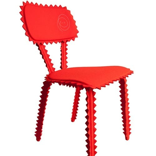 red zigzag chair