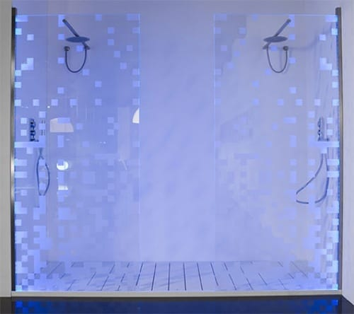 LED shower doors