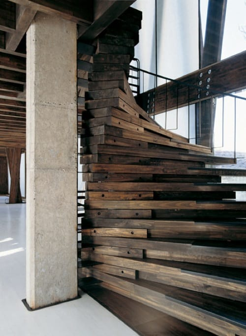 modern wood stairs