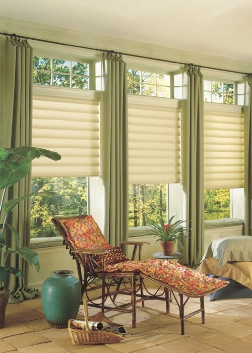 neutral roman shades