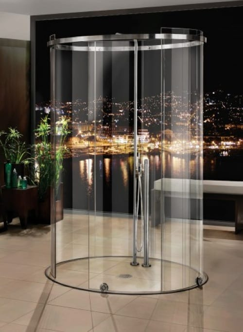 oval glass shower