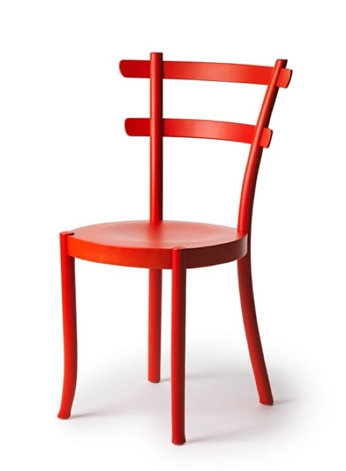 simple red chair