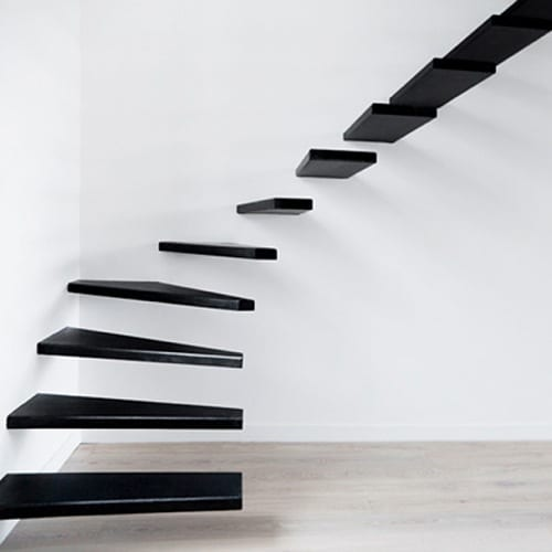 floating steel stairs
