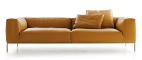 caramel colored couch