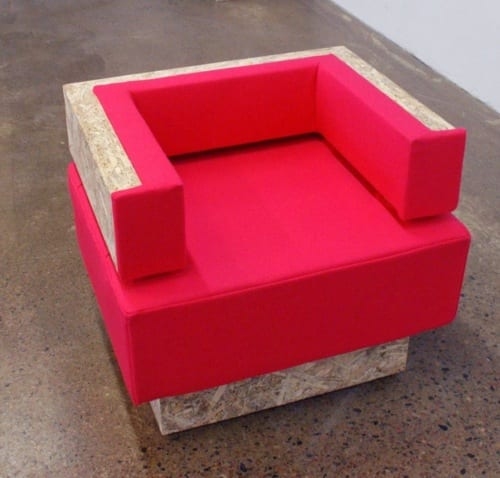 industrial red chair