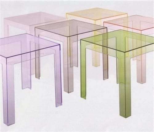Acrylic Side Tables by Kartell