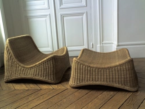 wicker easy chair